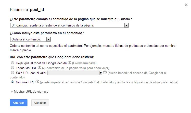 parámetros Google Search Console